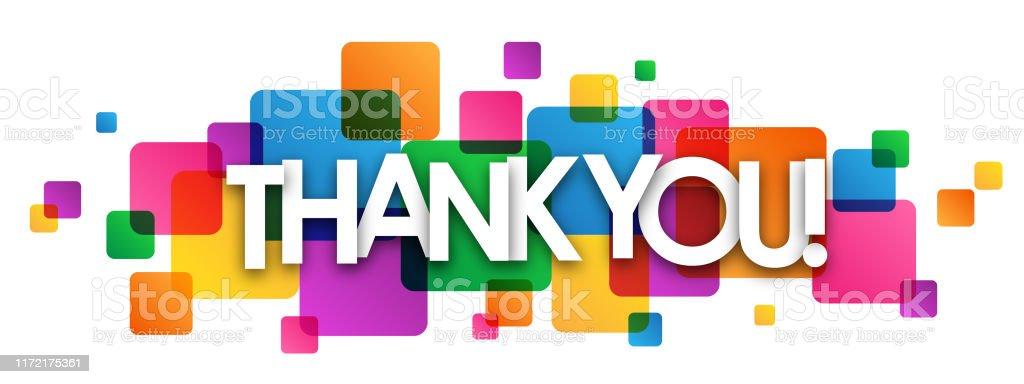 Teşekkür ederiz! vektör tipografi afişi - Royalty-free Aydınlık Vector Art