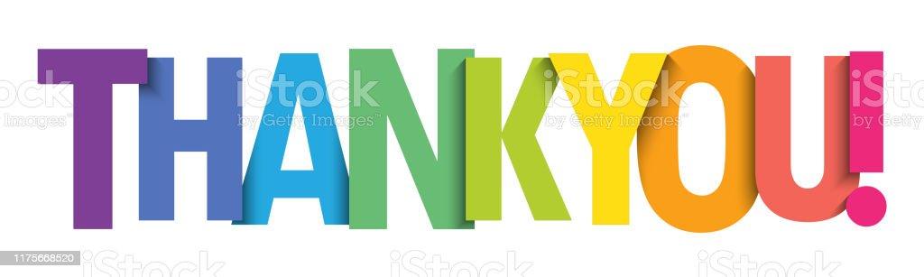 Teşekkür ederiz! vektör tipografi afişi - Royalty-free Baskı Vector Art
