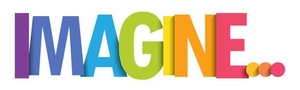 ilustrações de stock, clip art, desenhos animados e ícones de imagine... vector typography banner - fantasia