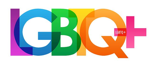 LGBTQ+ vector typography banner