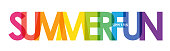 SUMMER FUN multicolored vector typography banner