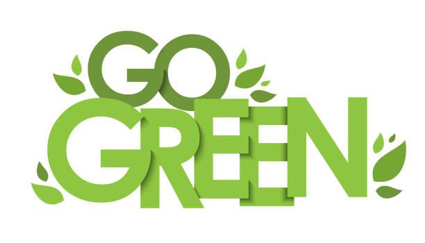 go green vektor typografie banner - upcycling stock-grafiken, -clipart, -cartoons und -symbole