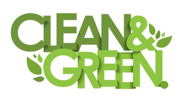 clean & green vektortypografie banner - upcycling stock-grafiken, -clipart, -cartoons und -symbole