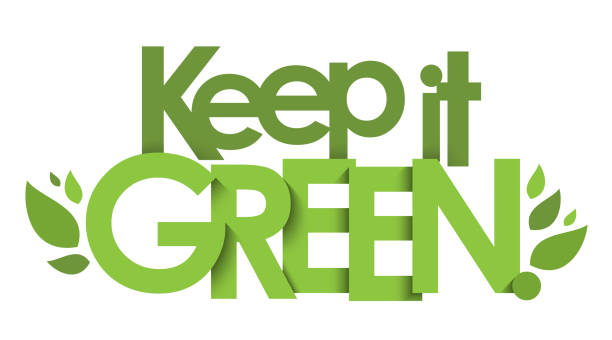 keep it green vektortypografie banner - upcycling stock-grafiken, -clipart, -cartoons und -symbole
