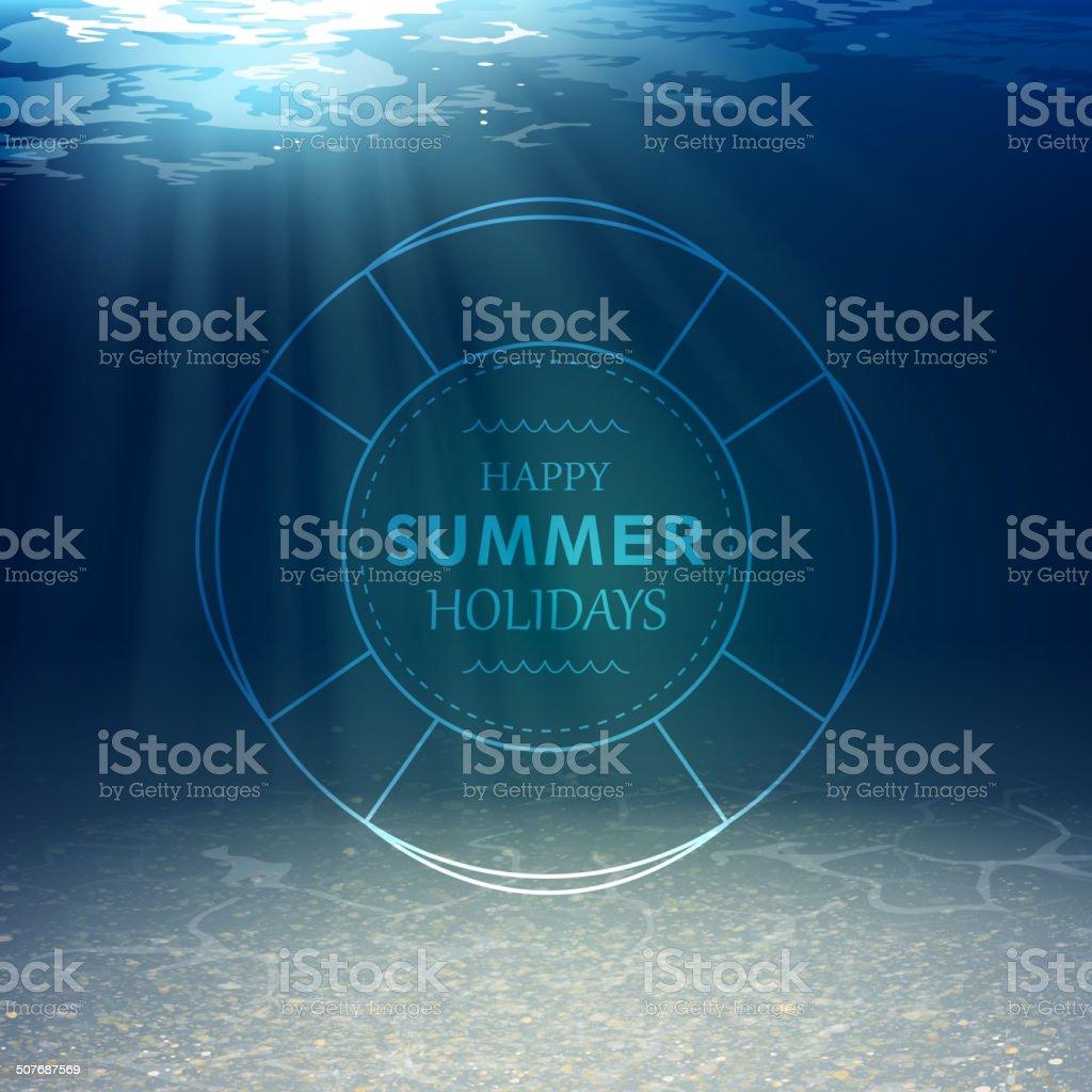 Vector Underwater Background vector art illustration