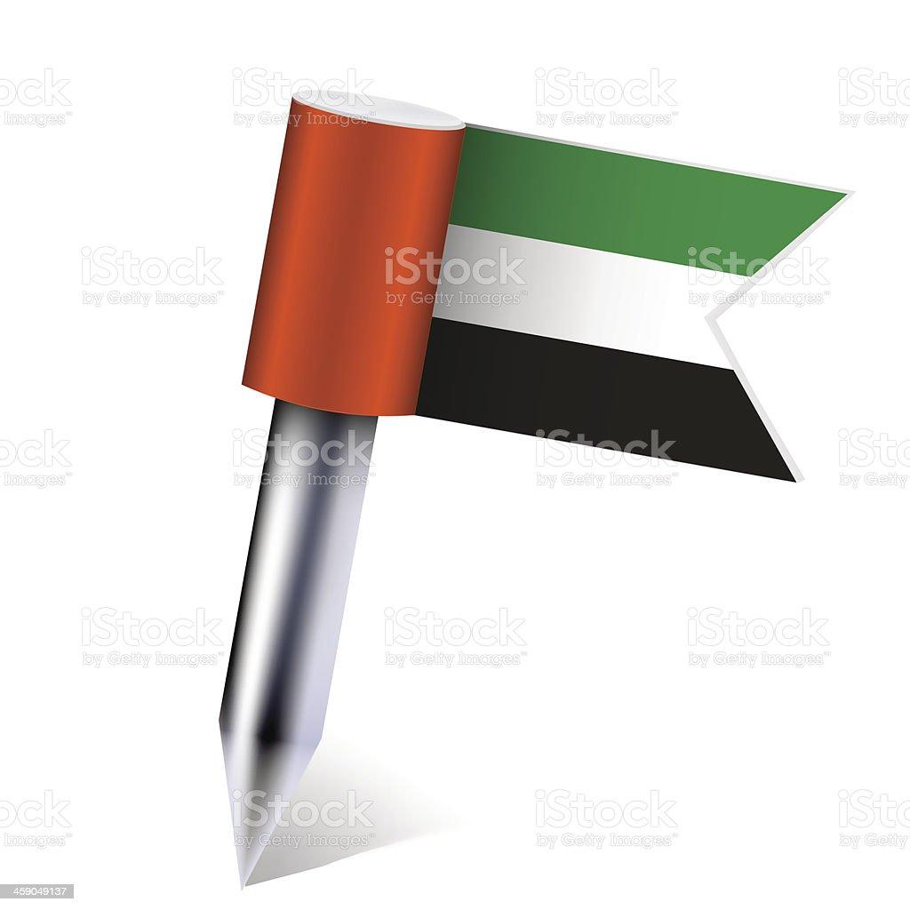 Vector United Arab Emirates flag