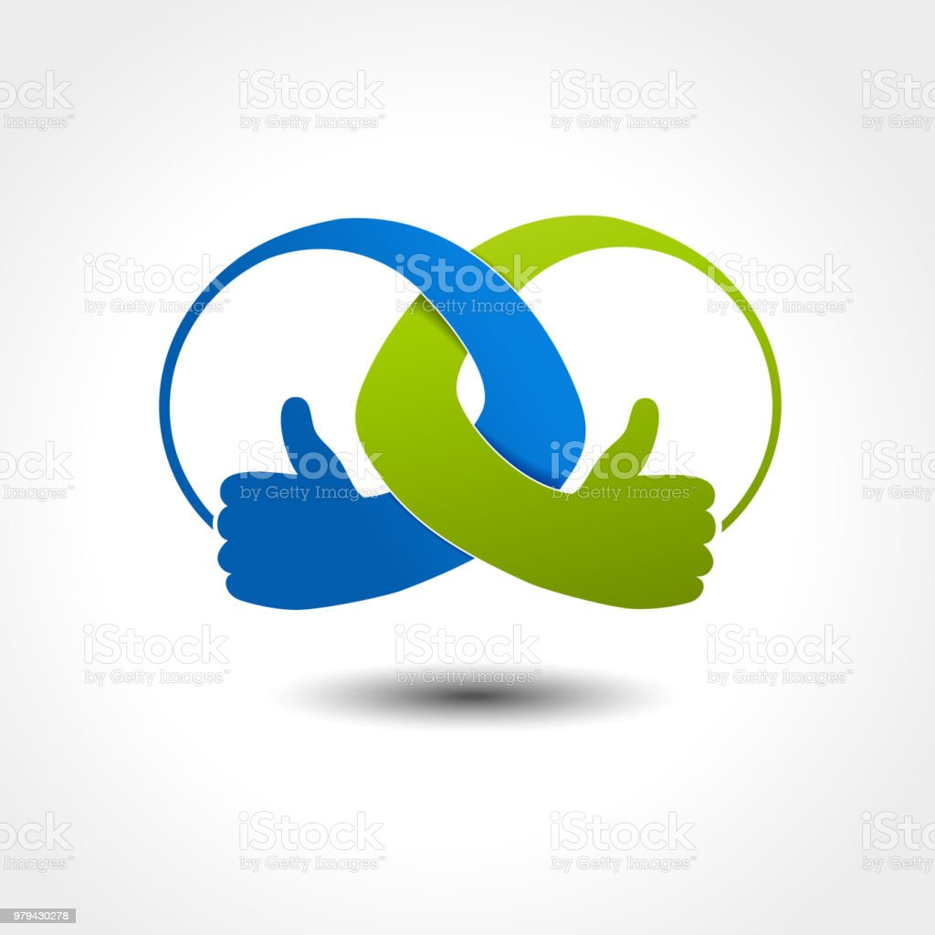 Vector Unity Icon Rounded Best Choice Symbol Gesture Hand Stock Illustration Download Image Now Istock