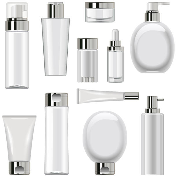 Vektor Unbeschriftete Kosmetikverpackung Set 2 – Vektorgrafik