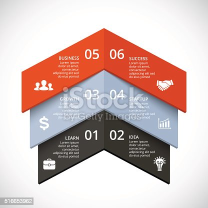 istock Vector up arrows infographic. Template for diagram, graph, presentation and 516653962