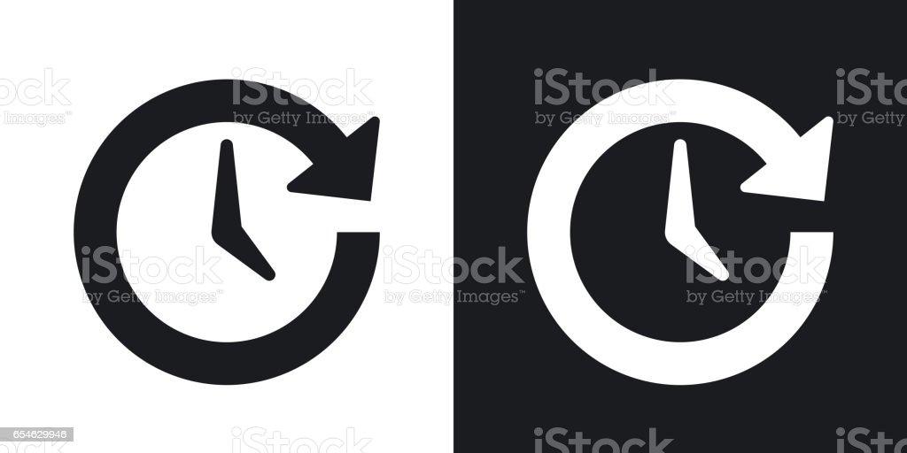 Vektor-Update-Symbol. Zweifarbige Version auf schwarzen und weißen Hintergrund – Vektorgrafik