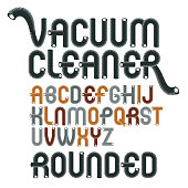 Funky Rounded Font Typescript Vector Upper Case Modern Alphabet Letters Abc Set