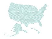 Vector USA Administrative Map with radiant point pattern