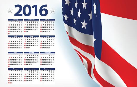 Vector USA calendar year 2016
