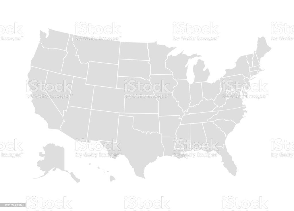 向量美國地圖美國圖示。美國國家/地區 世界地圖插圖 - 免版稅世界地圖圖庫向量圖形