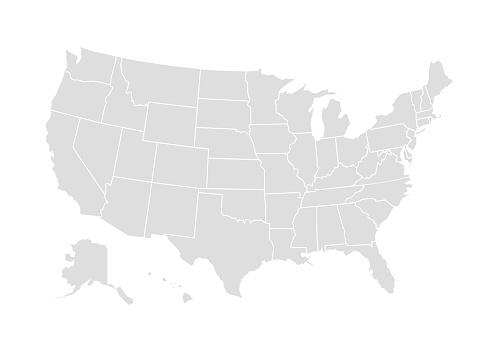 向量美國地圖美國圖示美國國家地區 世界地圖插圖向量圖形及更多世界地圖圖片