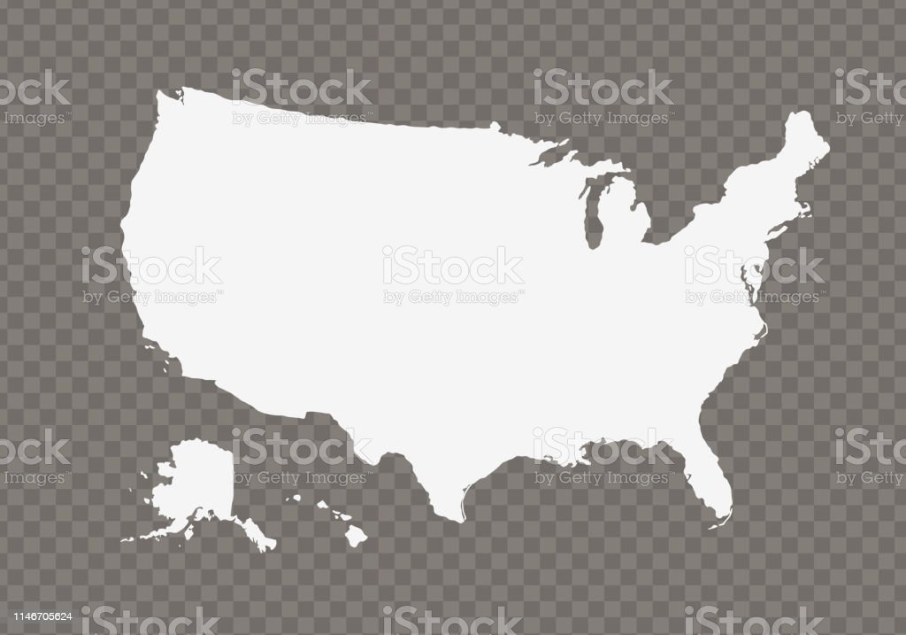 Vector Usa Map On Transparent Background Stock Illustration ...