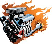 vector V8 engine