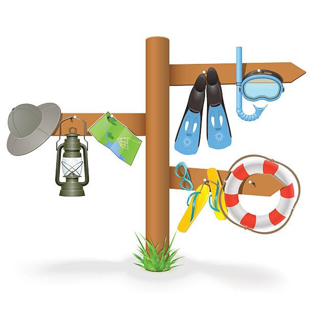 vektor-urlaub-zeigestab - buchenholz stock-grafiken, -clipart, -cartoons und -symbole