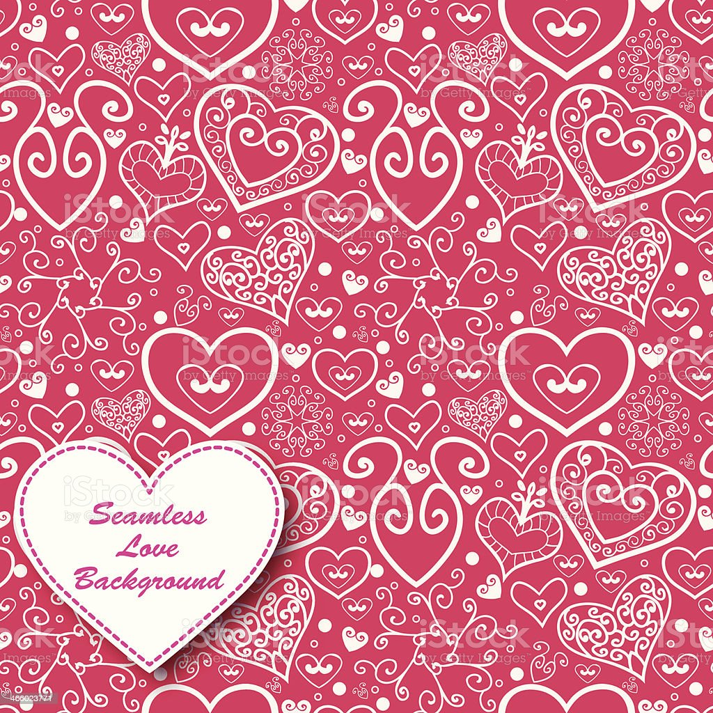 Vector Valentine's day lacy paper heart greeting card royalty-free stock vector art