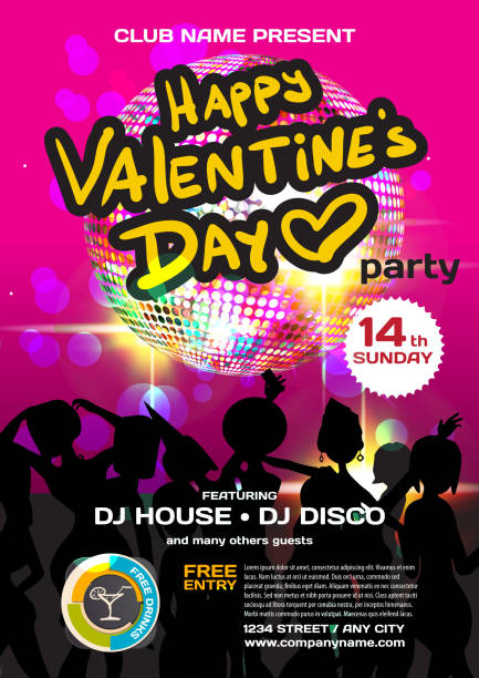 Royalty Free Valentine Day Dance Party Clip Art Vector Images