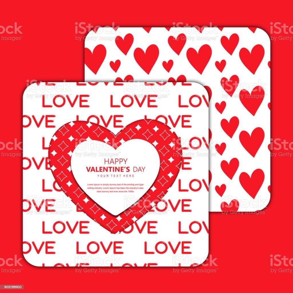 Vektordesign Einladungskarten Valentinstag Stock Vektor Art Und Mehr