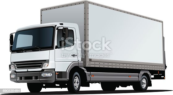 istock Vector van template isolated on white 690535484