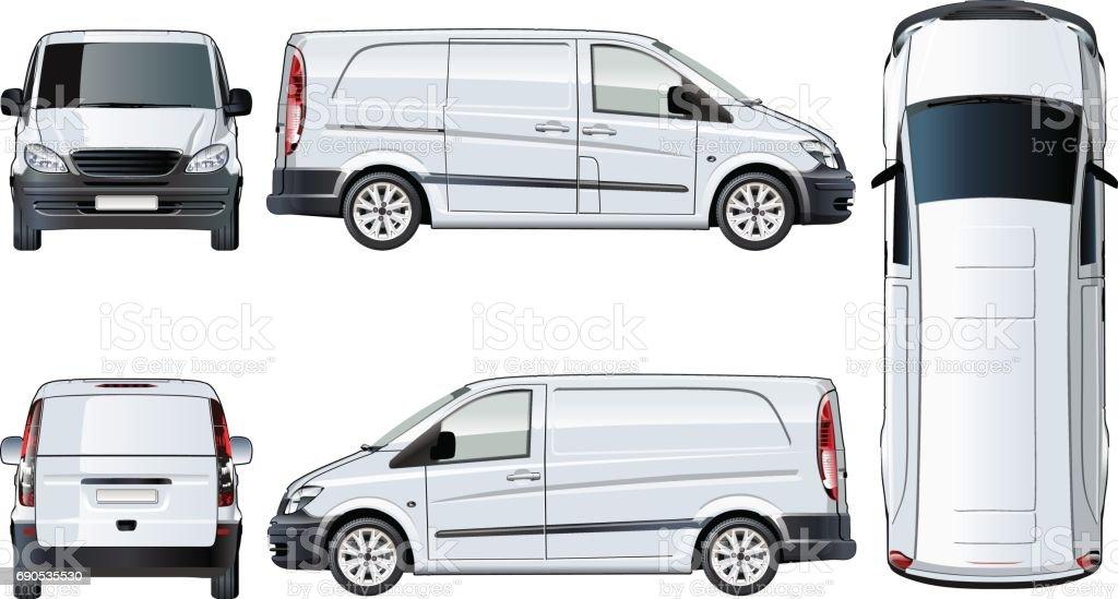 Vector van template isolated on white vector art illustration