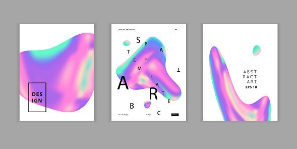 Vector vaporvawe neon adstract poster