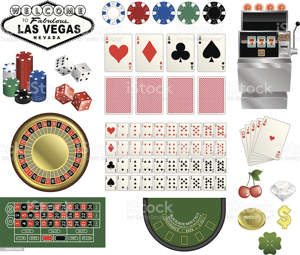 Vector Vegas Casino Components royalty-free stock vector art