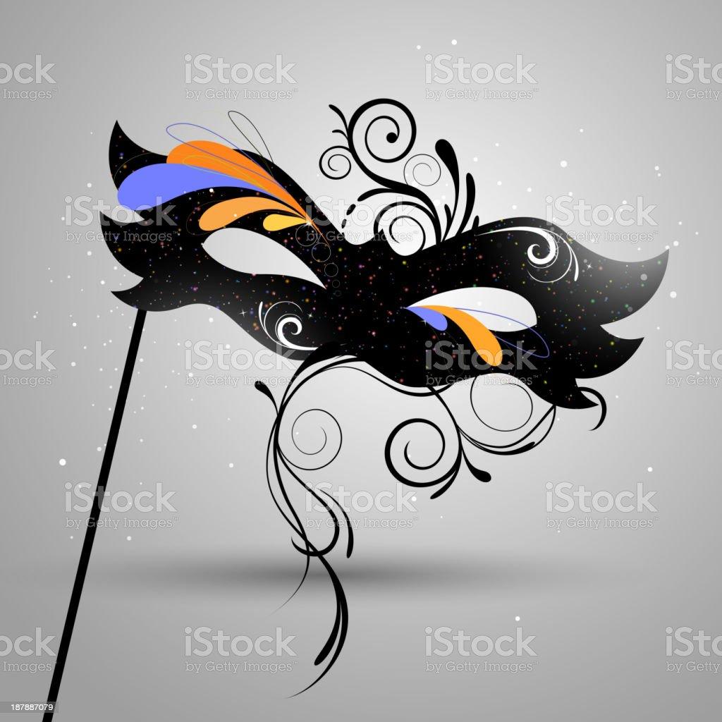 Vector Venetian Mask vector art illustration