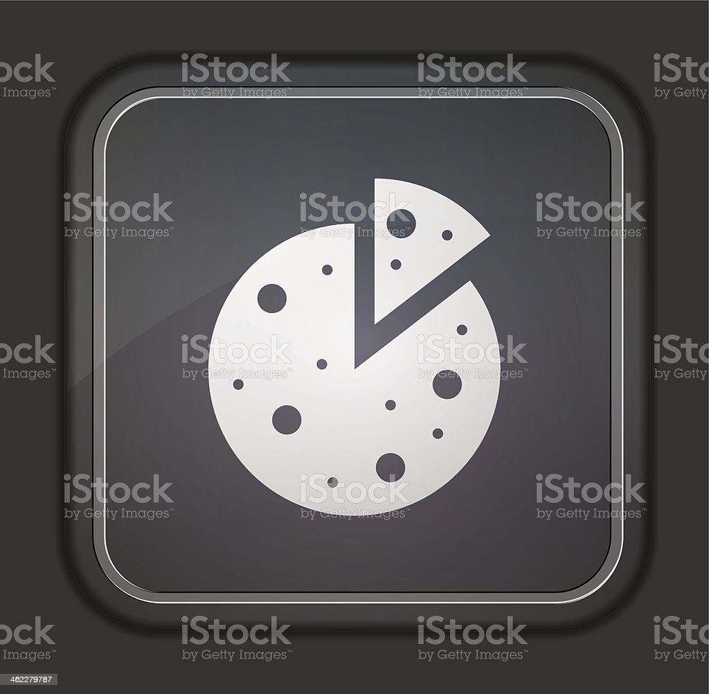 Vector version. Pizza icon. Eps 10 illustration. Easy to edit royalty-free stock vector art