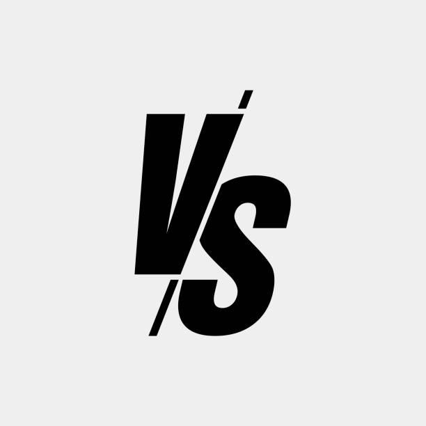 stockillustraties, clipart, cartoons en iconen met vector versus teken moderne stijl zwarte kleur geïsoleerd op een witte achtergrond voor slag, sport, competitie, wedstrijd, wedstrijd spel, aankondiging van twee vechters. vs-pictogram - mma