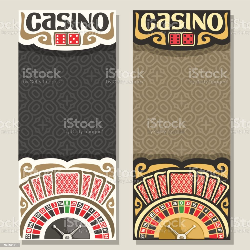 Vector vertical banners for Casino vector art illustration
