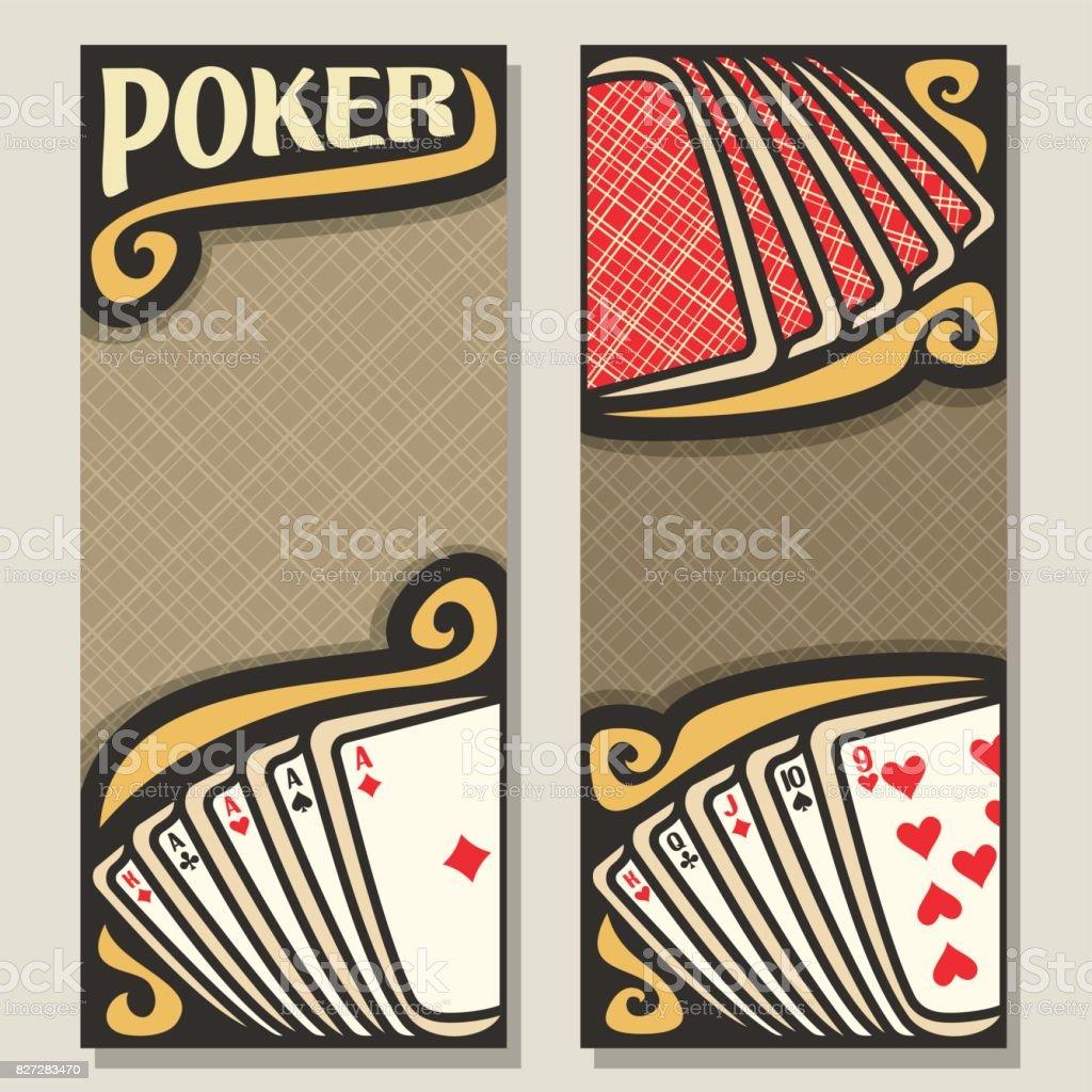 Vector vertical banners for Poker vector art illustration