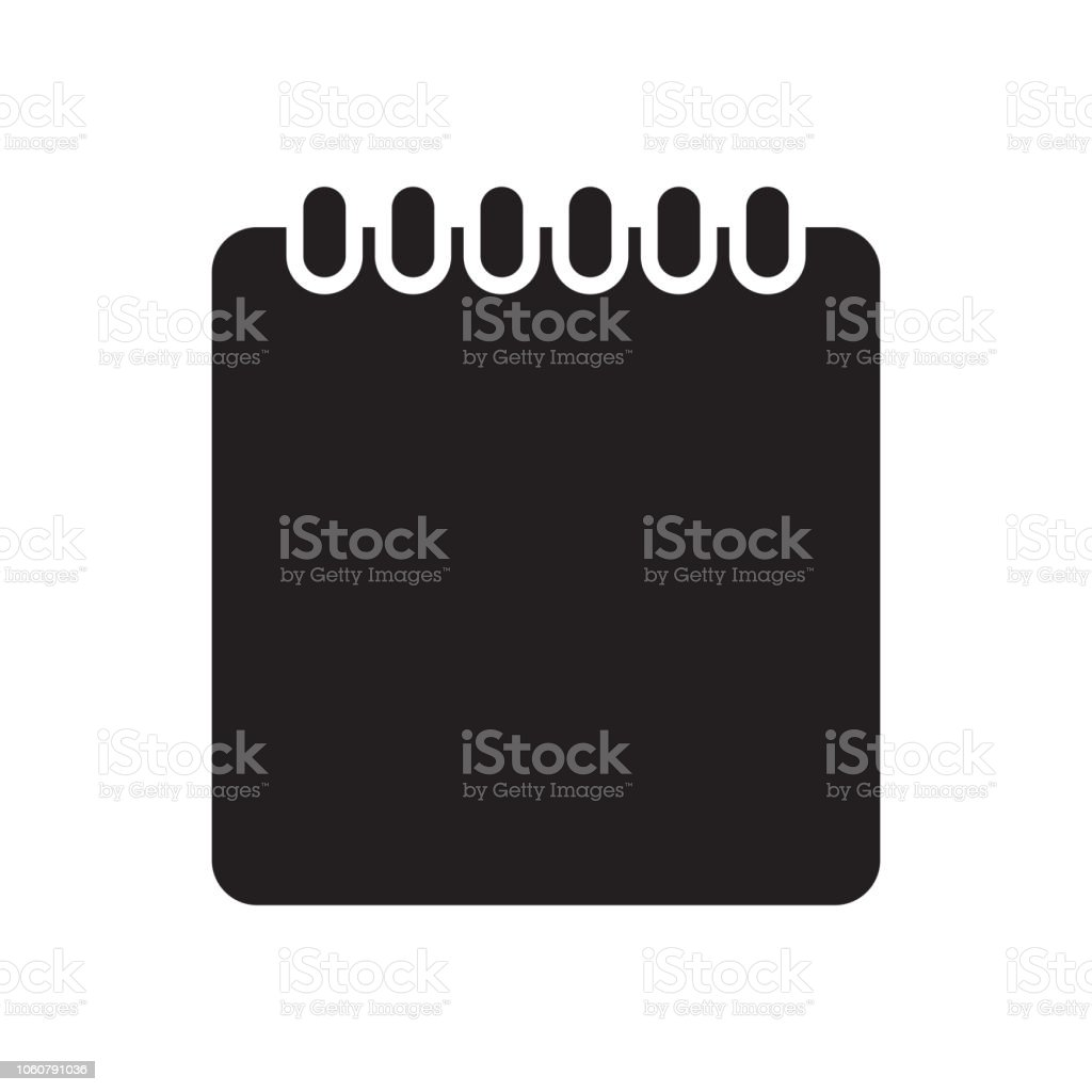 vector vertical binder icon vertical spiral notebook page icon stock