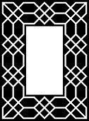 Vector Vertical Border Frame