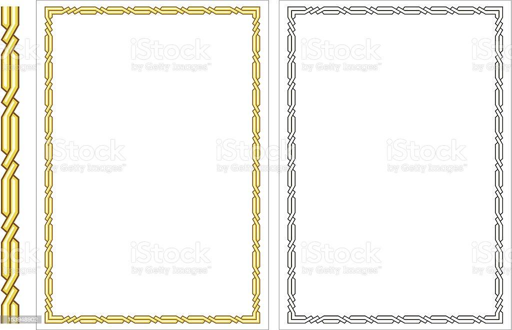 Ilustración de Marco Decorativo Vector Vertical y más banco de ...