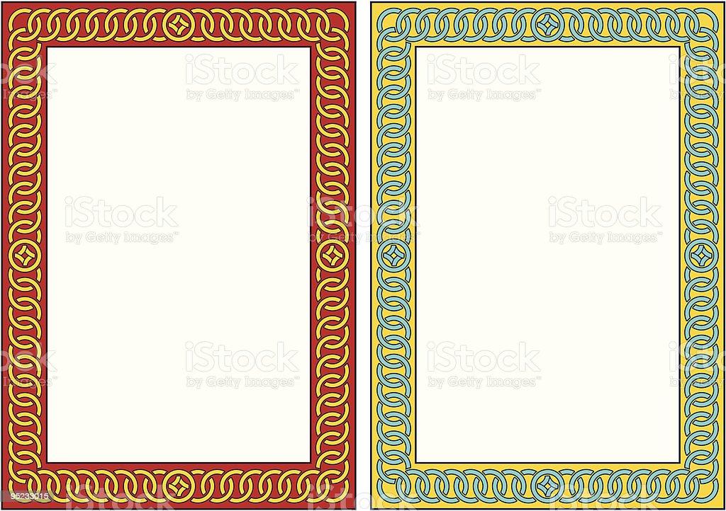 Vector vertical decorative frame royalty-free stock vector art