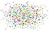 Vector vibrant color soap bubles or confetti festive background
