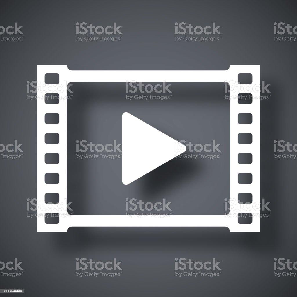 Vecteur icône vidéo - Illustration vectorielle