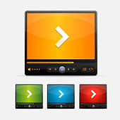 Vector Video Player Skin colour set
