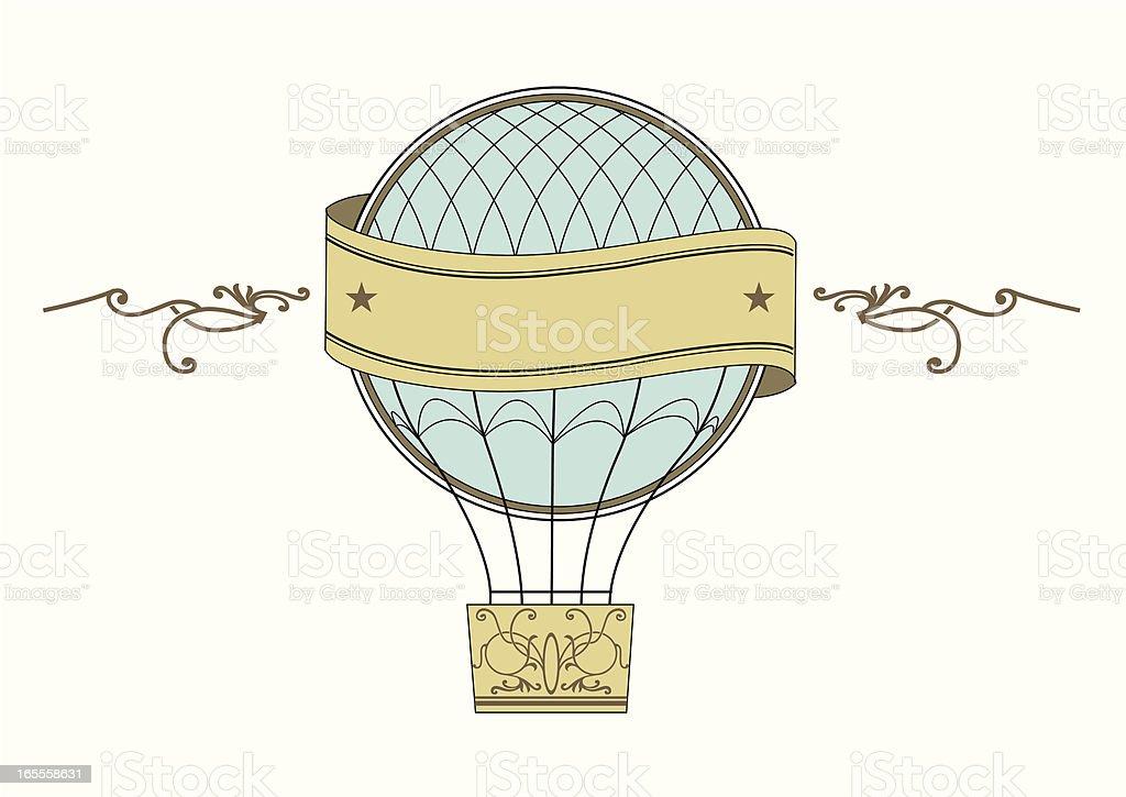 Vector vintage air baloon symbol vector art illustration