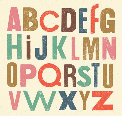 Vector vintage alphabet