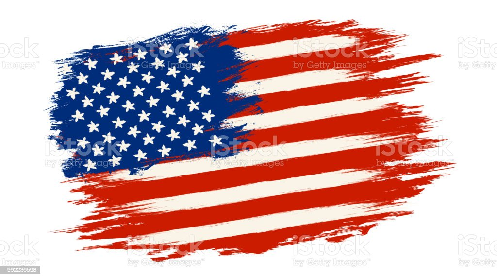 ベクトル ヴィンテージ アメリカ国旗 ベクターアートイラスト