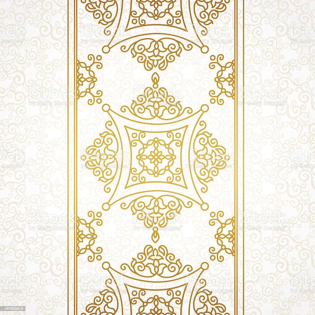 Vector vintage border in Eastern style. vector art illustration