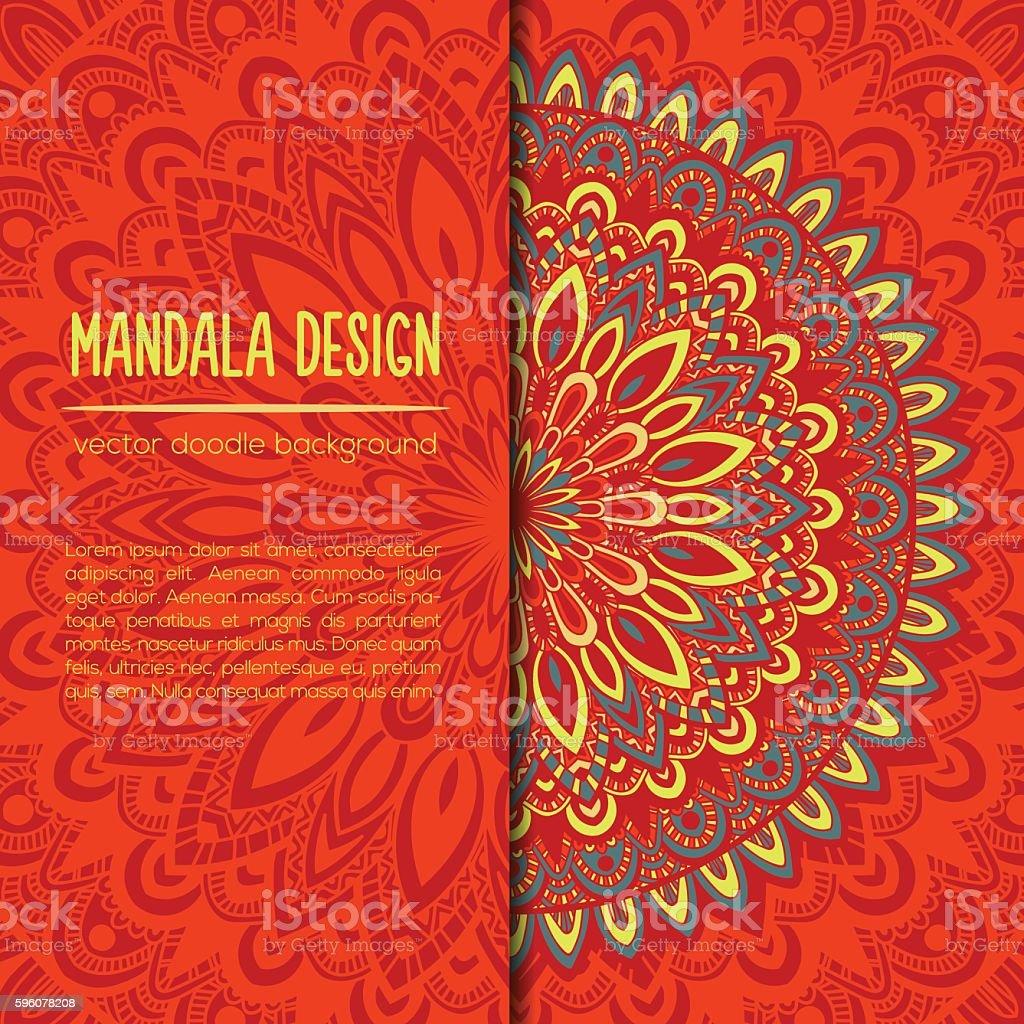 Vector vintage business card mandala design ornamental doodle vector vintage business card mandala design ornamental doodle background royalty free vector reheart Gallery