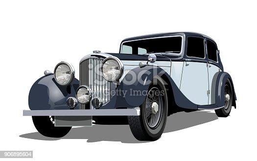 istock Vector vintage car 906895604