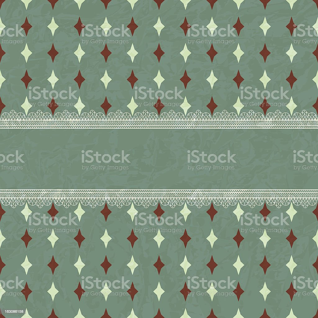 Vector Vintage Card with Lacy Borders royalty-free stock vector art
