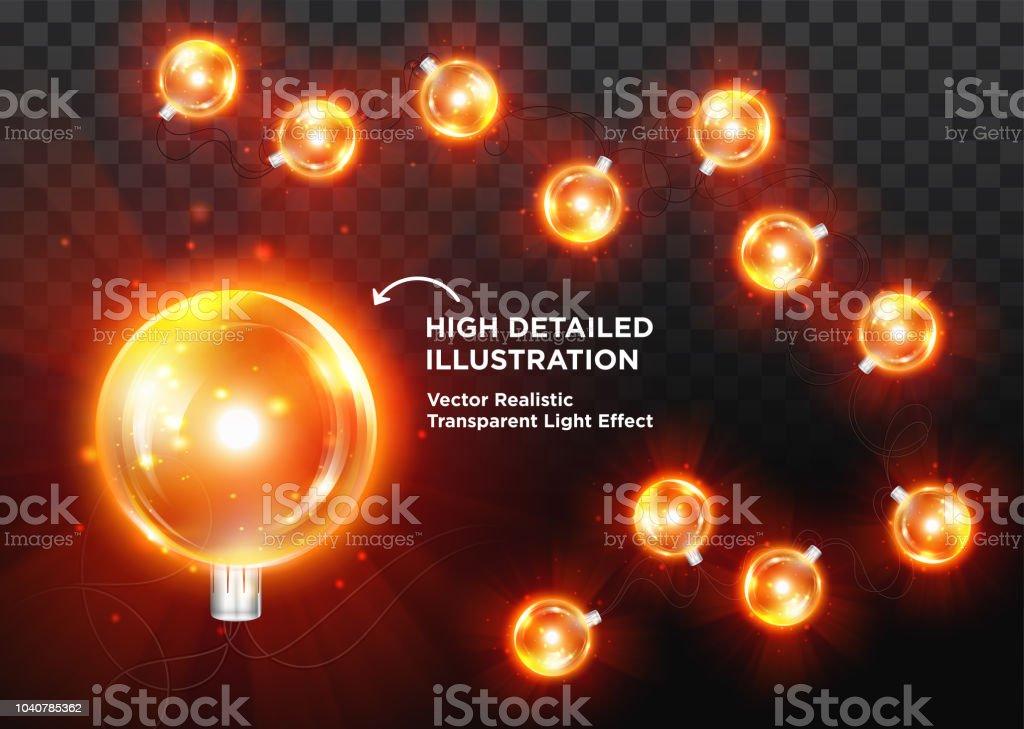 vector vintage christmas lights retro edison xmas tree light bulb gold led glass garland