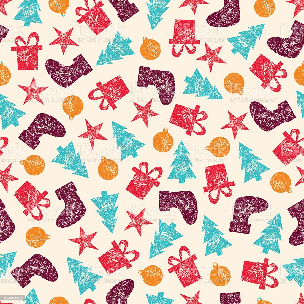 vector vintage christmas seamless pattern for christmas